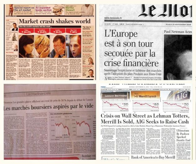 Journaux pendant la crise financière, ou la peur d'investir en bourse